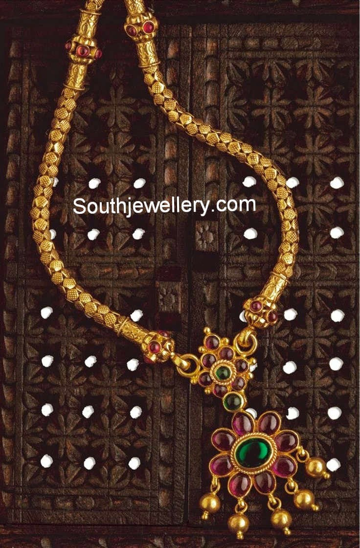 Unique antique gold necklace with ruby pendant jewellery designs aloadofball Gallery