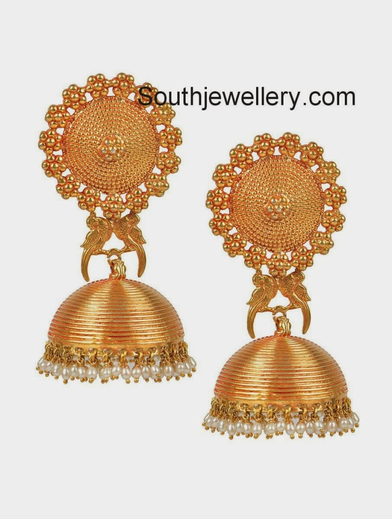 latest one gram gold jhumkas