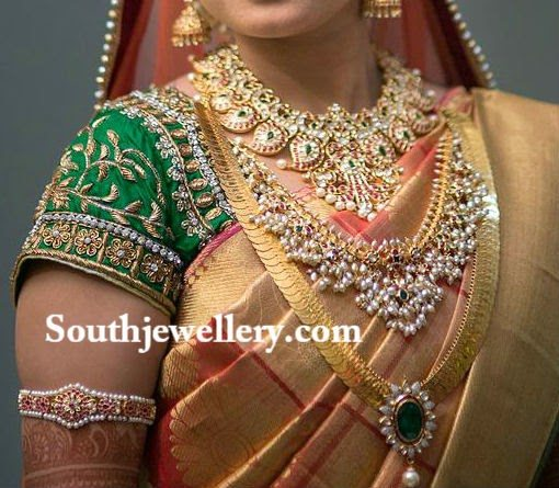 Bride in Stunning Traditional South Indian Jewellery