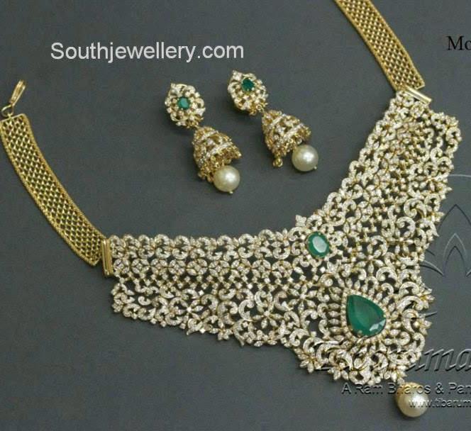 latest indian diamond necklace