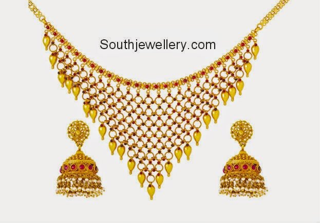 jaali style necklace
