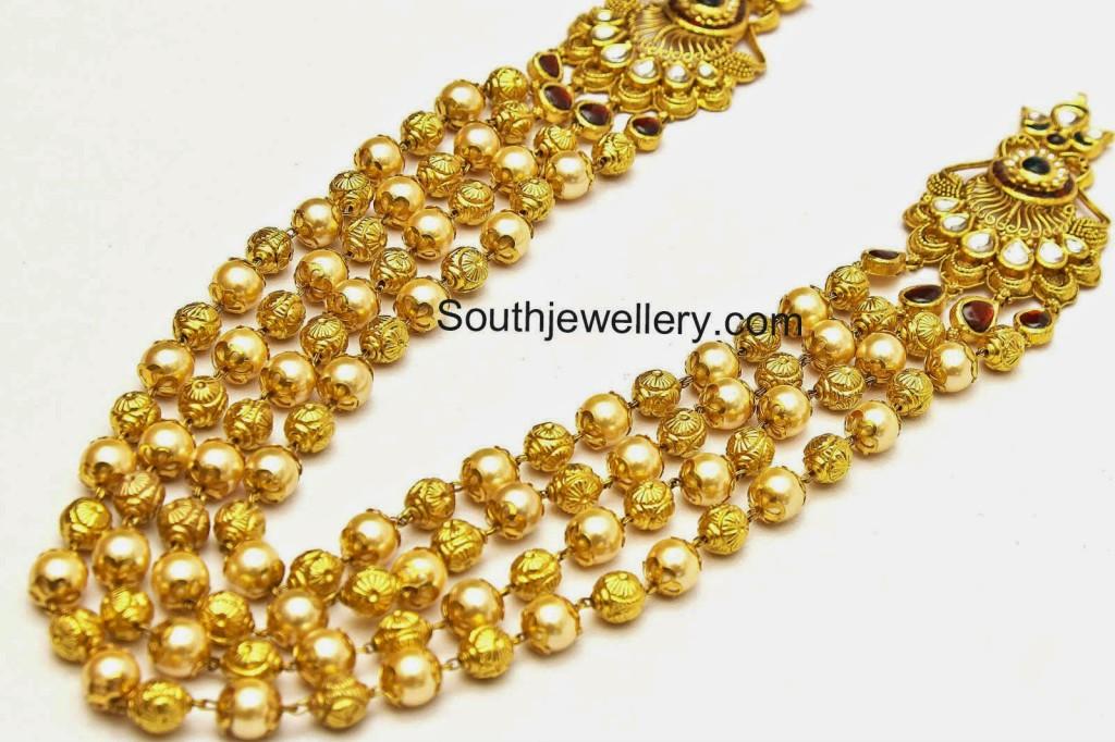 south sea pearls gold balls  mala designs