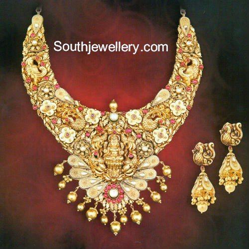 nakshi peacock necklace