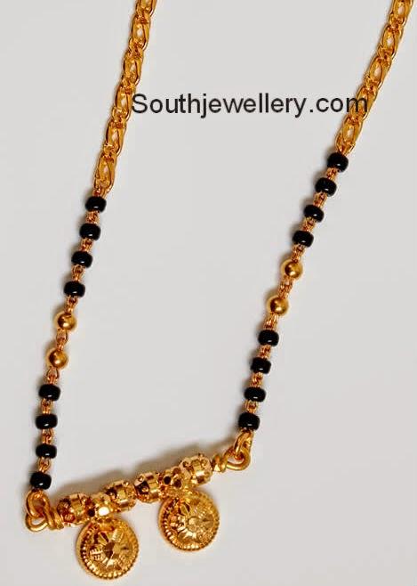 short black beads chains