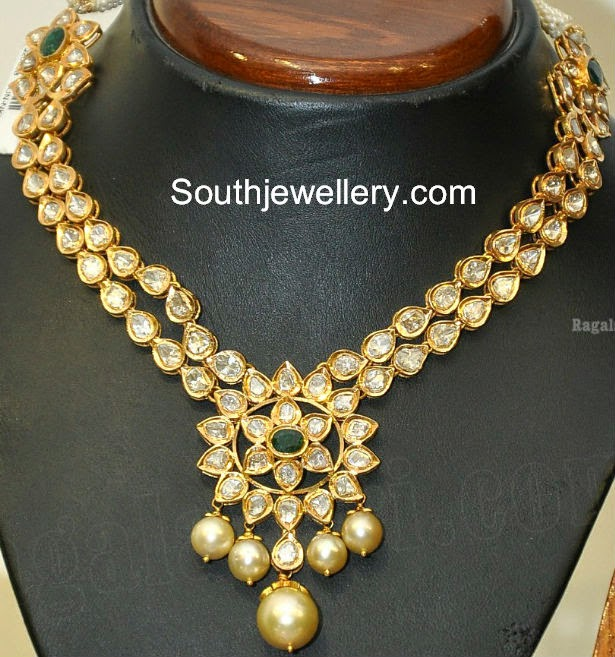 Buy Kundan Choker Necklace Priya Nacc10438c: Short Nallapusalu Chain
