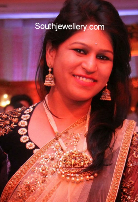 pearls haram with radha krishna pendant