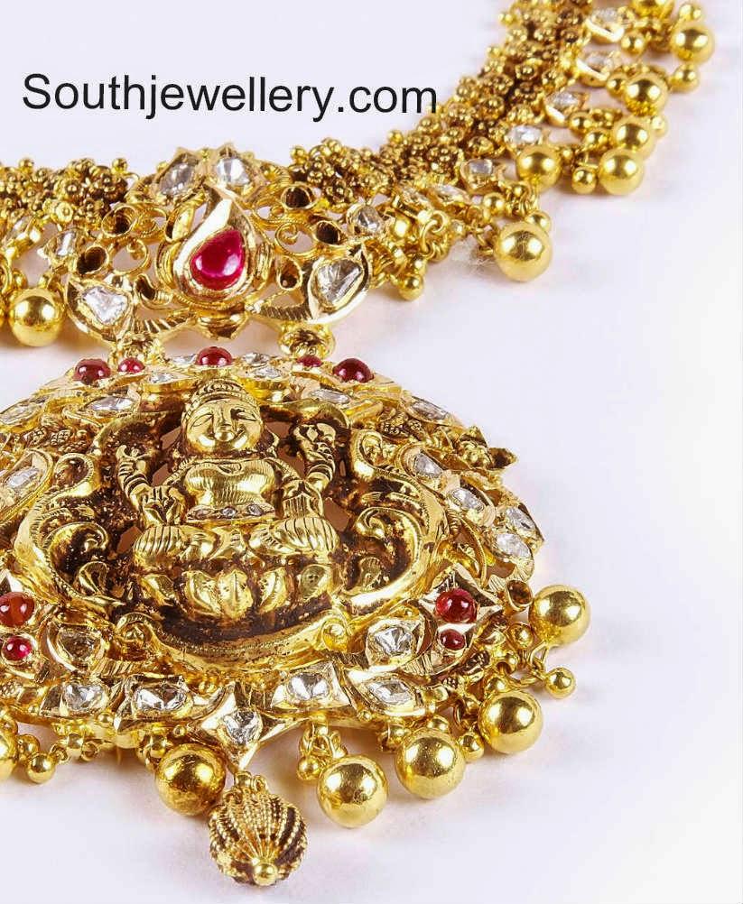 lakshmi temple jewellery designs