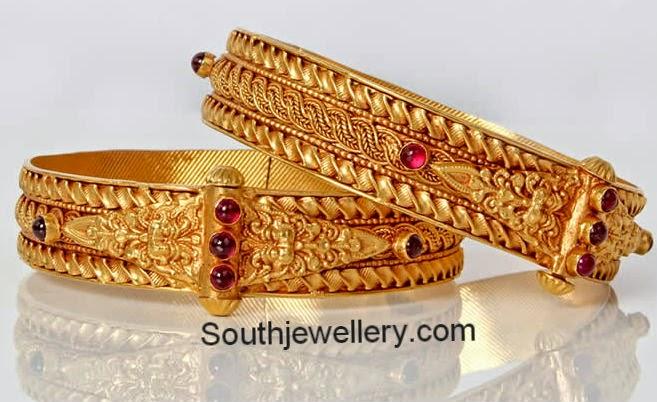 gold broad bangles