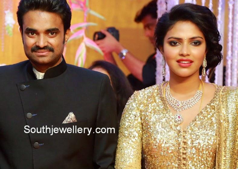 amala paul vijay wedding reception
