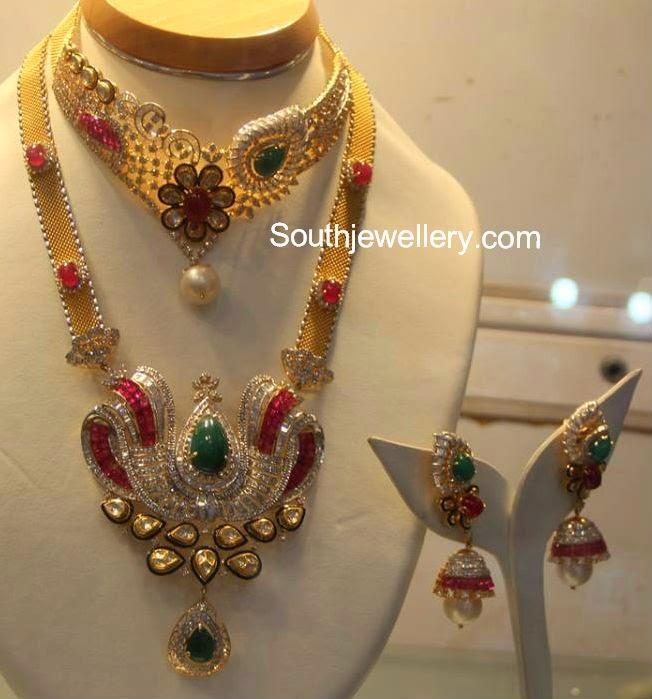 indian diamond haram designs