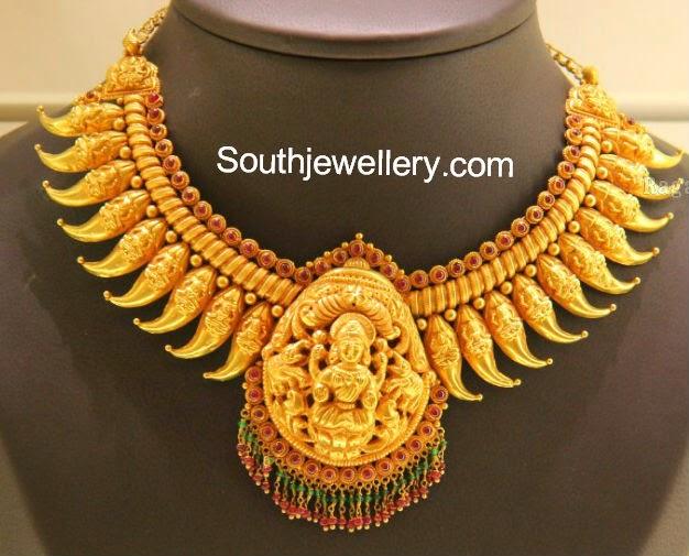 latest temple jewellery designs 2014