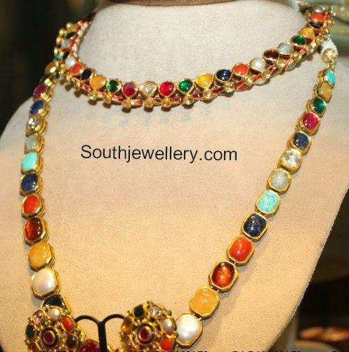 navaratna stones necklace