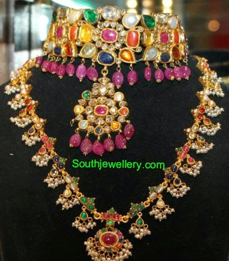jewellery necklace gold amrapali in designs kajol amarpali