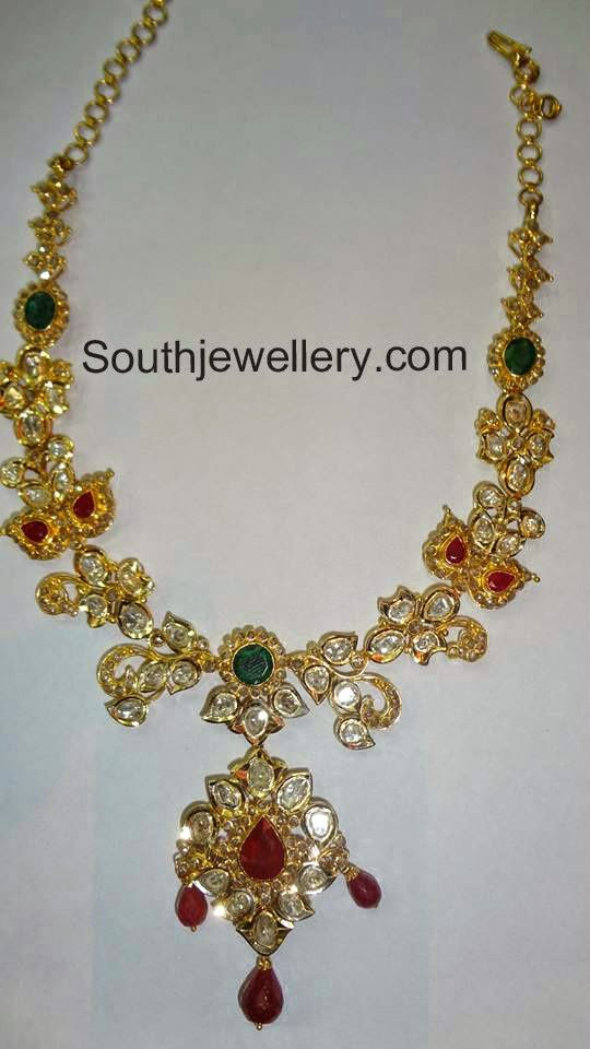jewellery pearl design mala gold online jewelsmart matte traditional hyderabad strand pendant broad beaded double