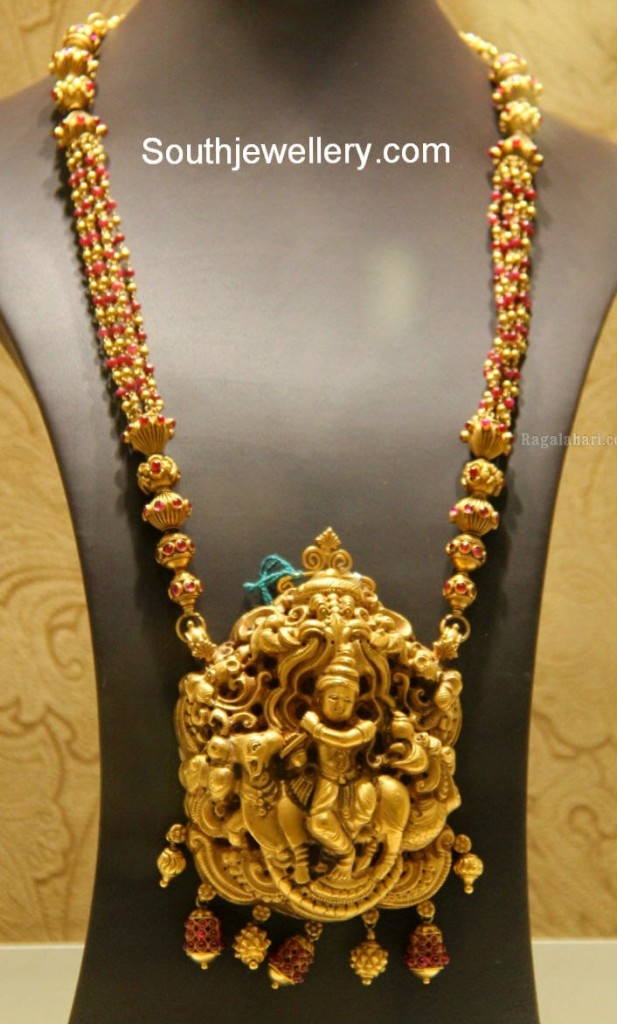 Antique Long Chain With Lord Krishna Pendant Jewellery