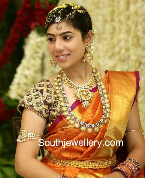 South Indian Jewellery Designs For Brides To Look Drop: Bride In Contemporary Wedding Jewellery