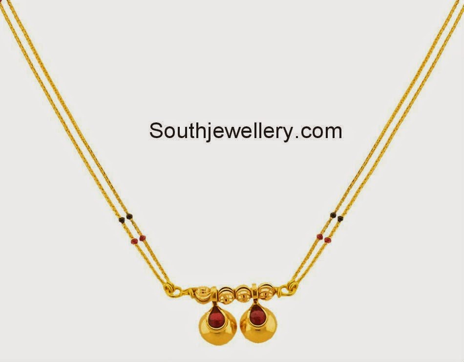 Mangalsutra latest jewelry designs - Page 14 of 15 - Jewellery Designs