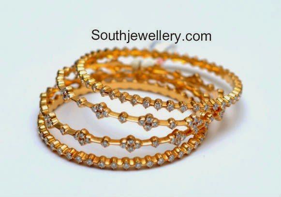 diamond bangles set