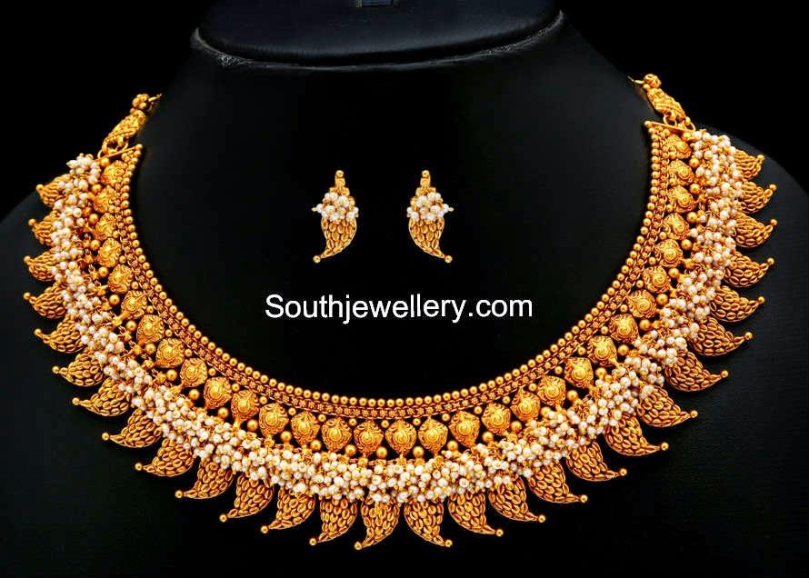 pearls mango necklace