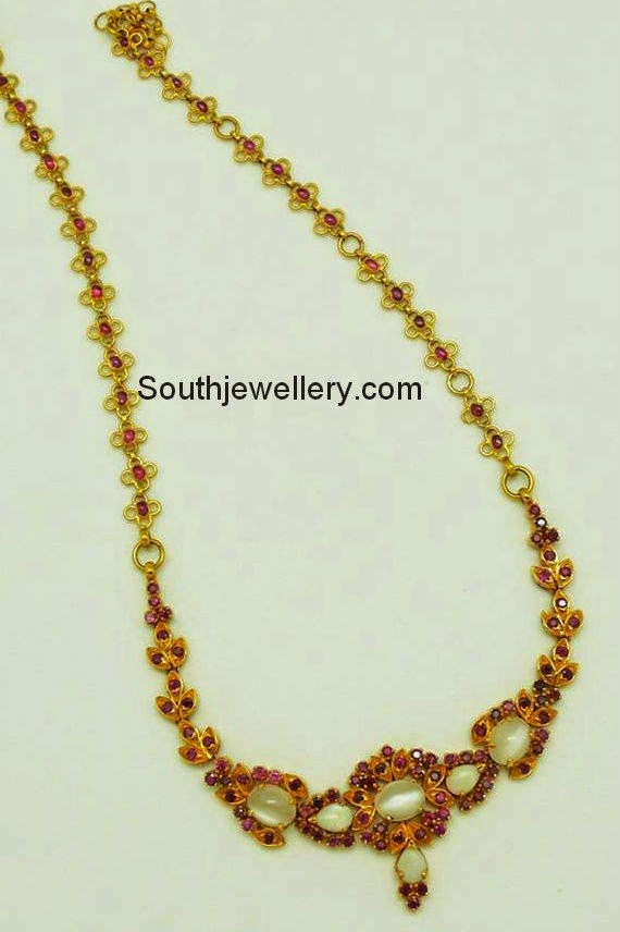 rubies and opals necklace