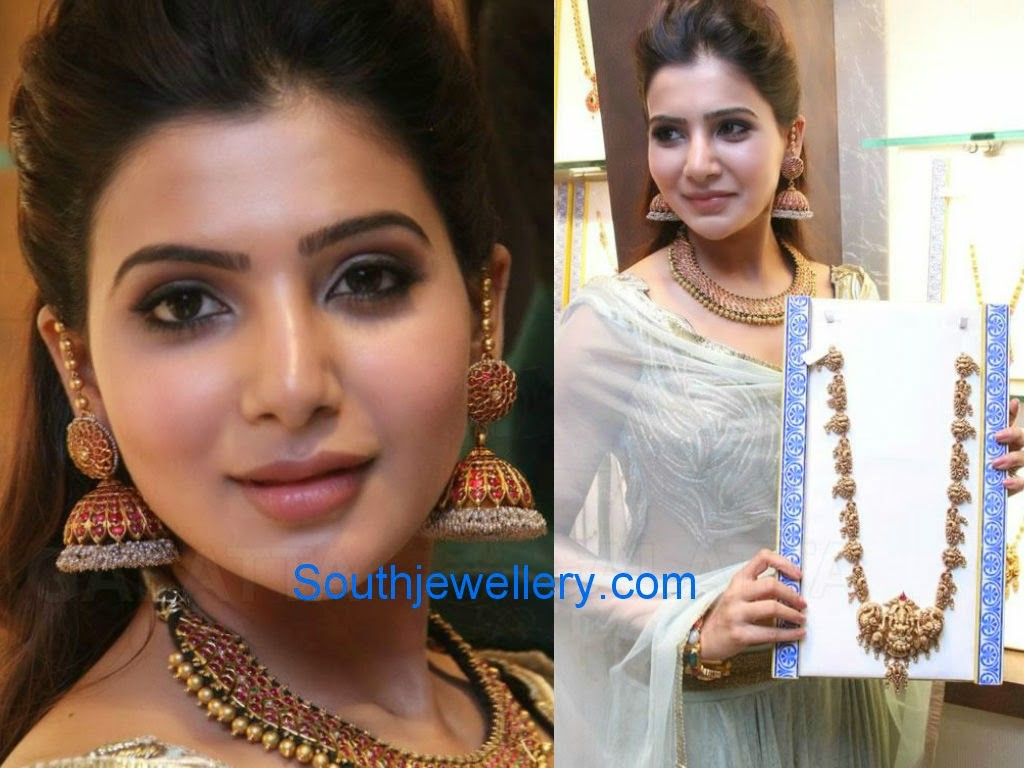 samantha in ruby jhumkas