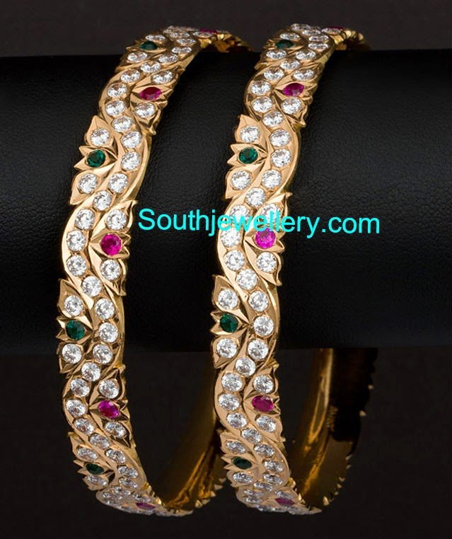 Beautiful Stone Bangles - Jewellery Designs