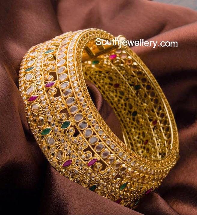 Stunning Uncut Diamond Broad Kada