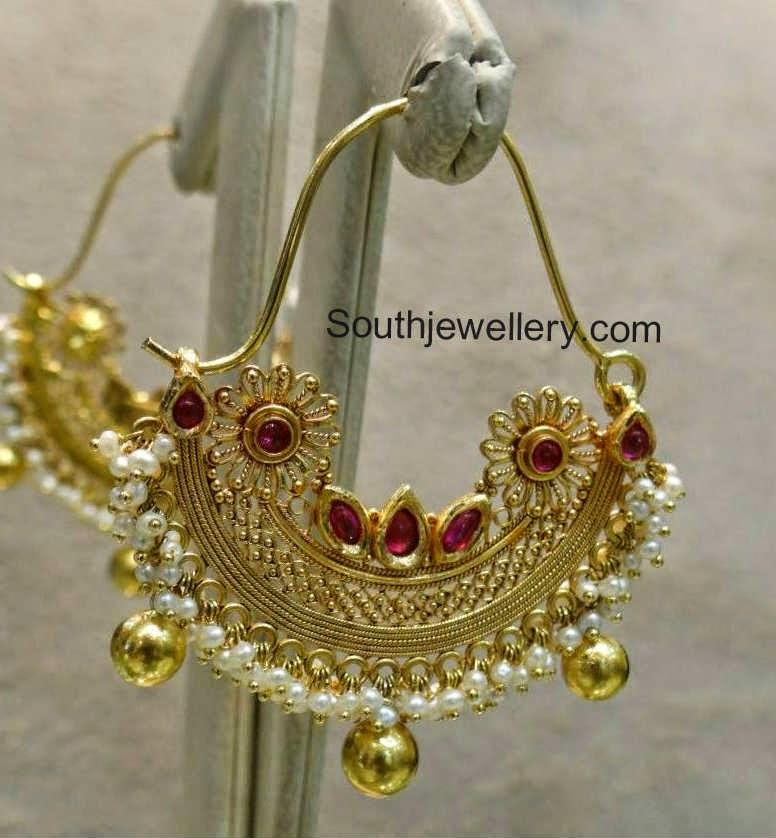 antique gold hoop earrings