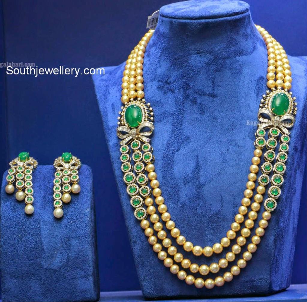 emerald pearls mala