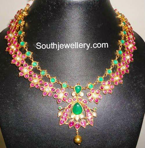 ruby motifs necklace
