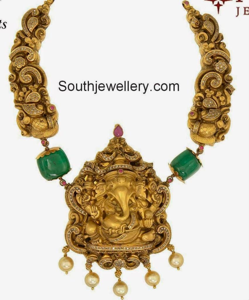 ganesh nakshi necklace