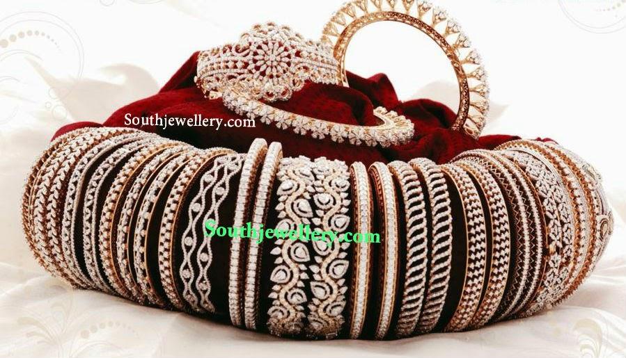 latest diamond bangles collection 2014