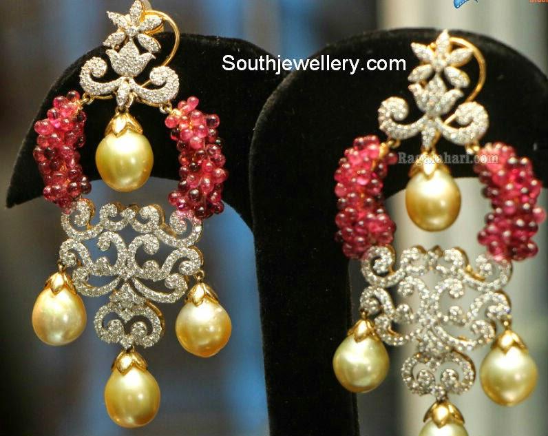 ruby diamond earrings