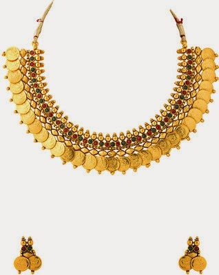 one gram gold kasulaperu necklace