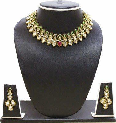 one gram gold kundan necklace set