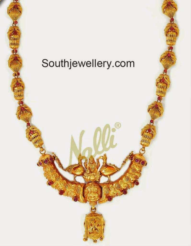 antique peacock necklace