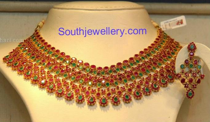 ruby emerald neckalce