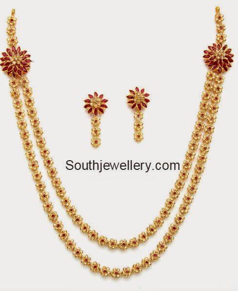 latest uncut diamond necklace models