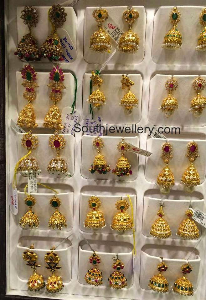 22 Carat Gold Jhumkas Collection - Jewellery Designs