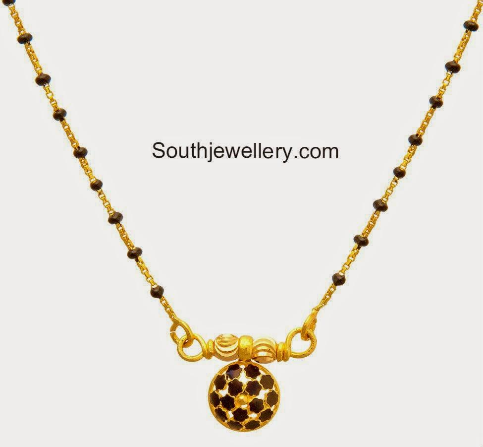 Light Weight Short Mangalsutra Chains - Jewellery Designs