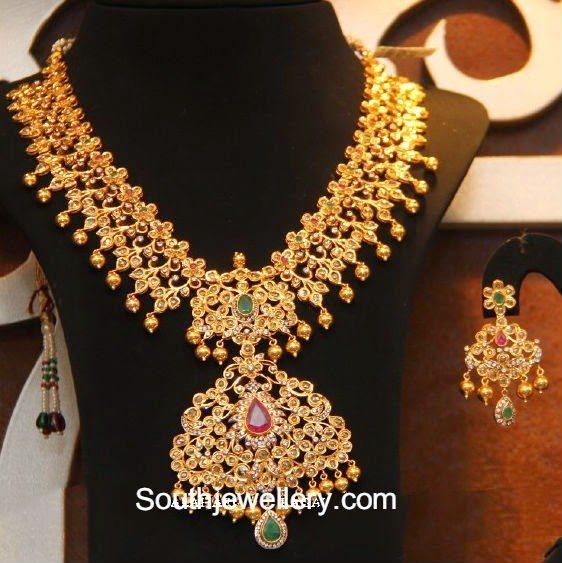 fascinating uncut diamond necklace jewellery designs