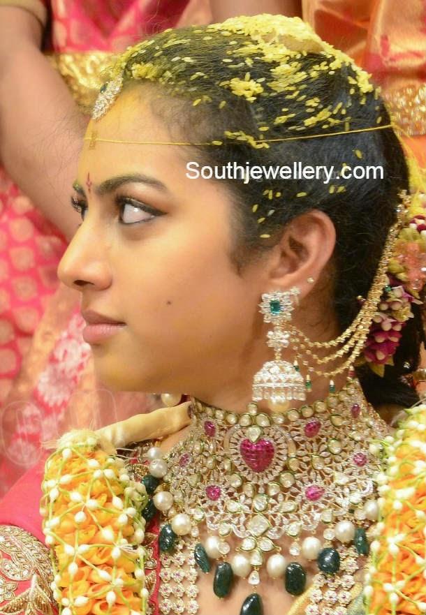 Nandamuri Tejaswini Wedding Photos Jewellery Designs