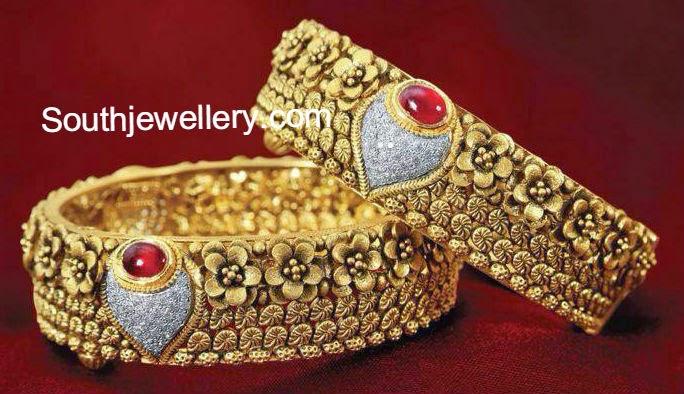 antique floral bangles