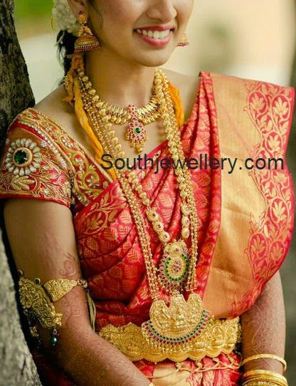 south indian beautiful brides in jewellery