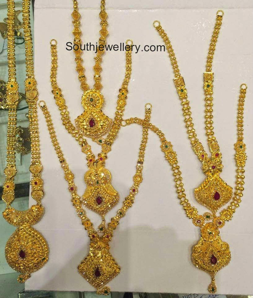 Plain Gold Necklaces Collection - Jewellery Designs