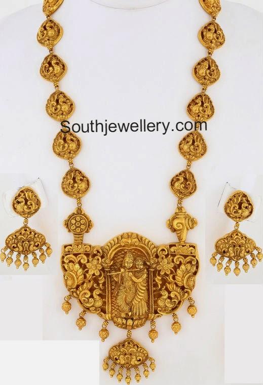 radha krishna nakshi necklace