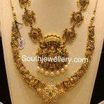 Simple Nakshi Temple Necklace Designs