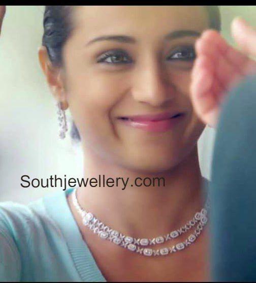 trisha krishnan nac diamond jewellery