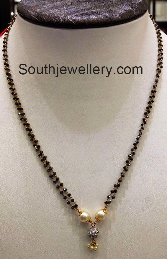 black diamonds mangalsutra