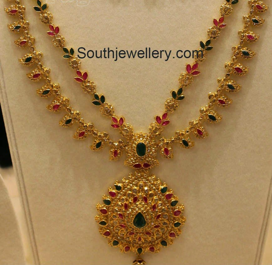 Latest Uncut Diamond Necklace Models Jewellery Designs
